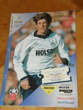 Tottenham v Manchester United Programme Jan 15 1994 Spurs Man Utd 15-01-94