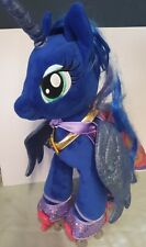 "LARGE 17"" BUILD A BEAR MY LITTLE PONY LUNA BLUE UNICORN with Cape&Roller skates"