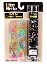 Hasbro Classic Lite-Brite Refill Set Includes 100 Extra Pegs & 8 Templates Kids