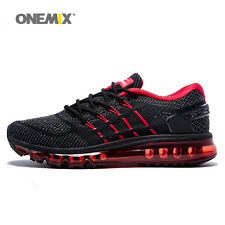 Men's Running Shoes Athletic Sport Knitting Shoes Outdoor Black Sneakers Casual