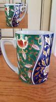 GORGEOUS EUC* 2 IMARI?  STYLE  Asian China CHINESE Coffee Tea Mug Cups ~Floral