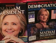 Hillary Clinton Newsweek Magazine Madam President (Recalled) & DNC 2016 Program