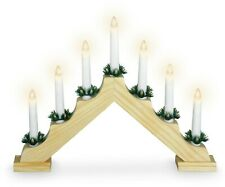 7 LED Candle Large Wood Window Christmas Candle Bridge Arch Xmas Decoration