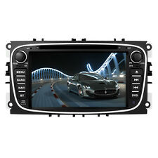 "7"" GPS Sat-Nav Car DVD Player MAP Radio Stereo Bluetooth Ford Mondeo Focus S-Max"