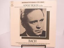 "Adolf Busch ""Bach Concerto in D Minor Violin & Orchestra"" Japan Import- SOCU 18"