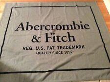 Abercrombie & Fitch Logo Blanket Grey NWOT