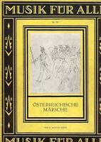 Notenheft: Musik für alle - Nr. 285 - Österreichische Märsche