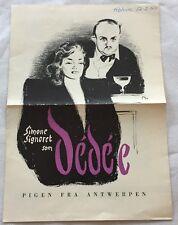 Dédée d'Anvers Bernard Blier Simone Signoret Pagliero 1948 Danish Movie Program