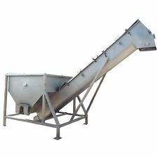 "Used RMF Stainless Steel Incline Screw Conveyor - 16"" X 15'-10"" L w/ Feed hopper"