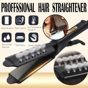 Hair Flat Straightener Glider Hot Four Gear Steam Ceramic Tourmaline Ionic Iron