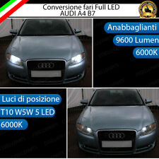 CONVERSIONE FARO FULL LED AUDI A4 B7 ANABBAGLIANTI + LUCI DI POSIZIONE 6000K