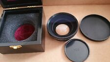 Bower Pro Digital HD DSLR MC AF 0.5x 58mm Camera Wide Angle Lens Macro with case
