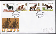 Horses - Commemorative Post Office First Day Cover 1978 stamps SG1063 to SG1066
