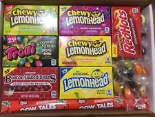 Lemonhead/Jelly Belly/Cow Tales/Trolli 28 Items American Sweets Gift Box - M04