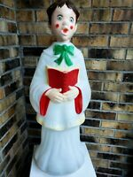 Empire's Caroler Boy Blow Mold Nativity Lighted Plastic Christmas Decal Eyes