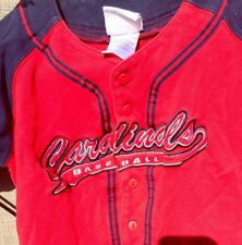 St. Louis Cardinals Baseball MLB Jersey Button Up Red Children's 7 Majestic