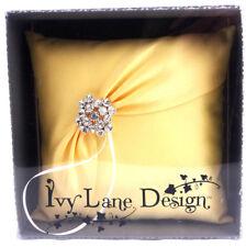 Ivy Lane Design Garbo Collection Wedding Ring Pillow, Lemon Yellow Free Shipping