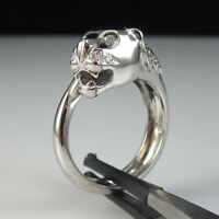 0.50 Ct Round Cut Diamond Panther Fashion Ring Solid 925 Sterling Silver