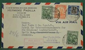COLOMBIA STAMP COVER 1935 AIRMAIL TO GERMANY   (L140)