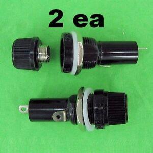 2ea High Quality Panel Mount Round 3AG AGC Cartridge Fuse Holder Screw Cap 120V