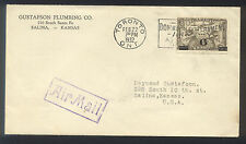 1932  US AIR MAIL - Toronto, Canada to Salina, Kansas - Nice Stamp and cancels!