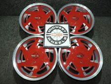 """1984-1996 C4 Corvette 17"""" 17X9.5 Factory OE Wheels Red Center """"Salad Shooters"""""""