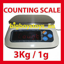 PIECE COUNTING SCALES - HIGH PRECISION - INTERNAL BATTERY - 3KG / 1G