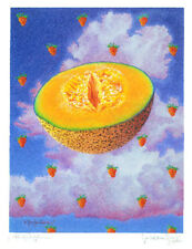 CANTALOUPE & STRAWBERRIES original hand worked, signed Limited edition art print