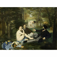 Edouard Manet Luncheon On The Grass Large Canvas Art Print