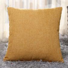 Vintage Cotton Linen Pillow Case Sofa Waist Throw Cushion Solid Cover Home Decor