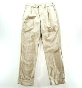 VINTAGE RM WILLIAMS Mens Moleskin Tan Straight Leg Casual Pants Size W 34 L 32