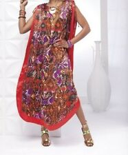 Woman's one size fIts most Tava Caftan and Scarf by Ashro new
