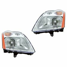 Fits 07-09 Nissan Sentra 2.0L Driver + Passenger Headlight Lamp Assembly 1 Pair