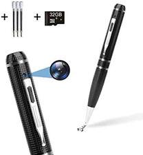 32GB Spy Hidden Camera Pen HD 1080P Video/Audio Camcorder Security Mini Body Cam