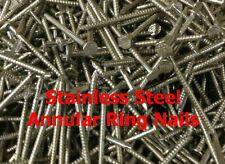 40 x 2.65mm STAINLESS STEEL ANNULAR RING SHANK NAILS CEDAR SHINGLE NAILS