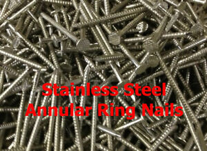 50 x 2.65mm STAINLESS STEEL ANNULAR RING SHANK NAILS CEDAR SHINGLE NAILS