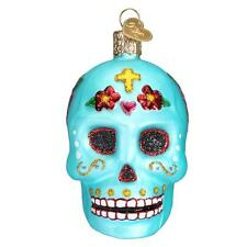 DAY OF THE DEAD GRATEFUL DEAD SKULL OLD WORLD CHRISTMAS GLASS ORNAMENT NWT 26069