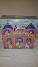VINTAGE 1985 My Little Pony COLLECTORS CASE Holds 12 MLP Ponies CASTLE Handle