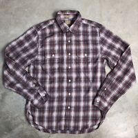 Lucky Brand Mens Shirt Size S Small Plaid Classic Fit Button Down Long Sleeve