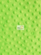 "Dimple Dot Minky Fabric - Lime Green - 60"" Sew-Soft Baby Fabric Raised Chenille"