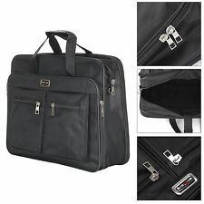 Business Laptop Computer Bag 15 Inch Notebook Case With Strap & Zip Black