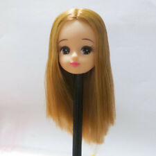 Long Hair Head for Licca Doll New Cute Doll Head Body Part White Skin Gift