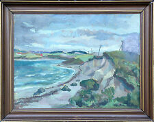 Landschaft am Meer. Wild beach. Ölgemälde, oil painting