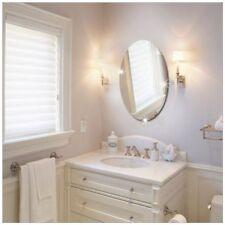 10.6x16.5 Inch Bathroom Self-adhesive Removable Oval Mirror Wall Sticker Ho DA