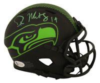 DK Metcalf Autographed/Signed Seattle Seahawks Eclipse Mini Helmet BAS 28420