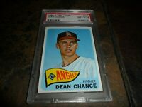1965 OPC O-pee-chee #140 Dean Chance CALIFORNIA ANGELS NM MINT PSA 8 POP 7 ONE 9