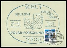 BUND MK 1981 POLAR-FORSCHUNG ARCTIC MAXIMUMKARTE CARTE MAXIMUM CARD MC CM ce29