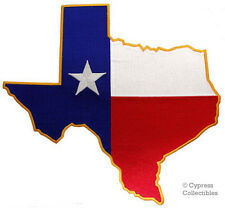 TEXAS STATE FLAG PATCH LARGE EMBROIDERED IRON-ON EMBLEM LONE STAR REPUBLIC BIG