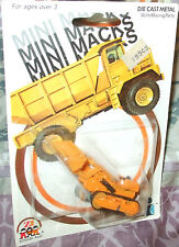1981 ZEE TOYS MINI MACKS TRACK TYPE Hydraulic LOADER Diecast 4+ Construction Toy
