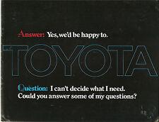 Toyota Catalog Corolla, Corona, Mark II, Celica ST, Land Cruiser, Pick Up 1973